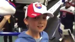 Chlapec dostal Daňovu hokejku