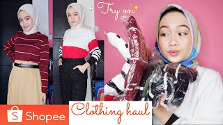 UNBOXING SHOPEE HAUL 2019 + TRY ON BAJU BAJU MURAH DI SHOPEE | HIJAB OUTFIT IDEAS 2019