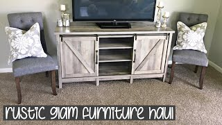 RUSTIC GLAM FURNITURE HAUL | affordable finds! | New Home Series