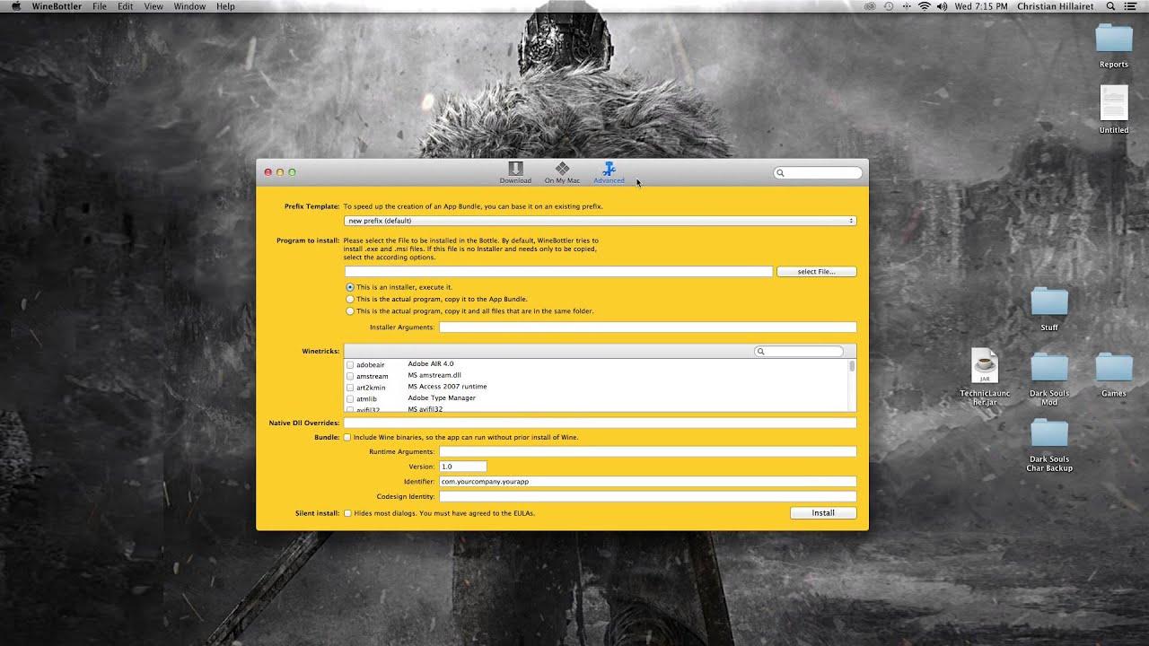 how to run setup exe on mac