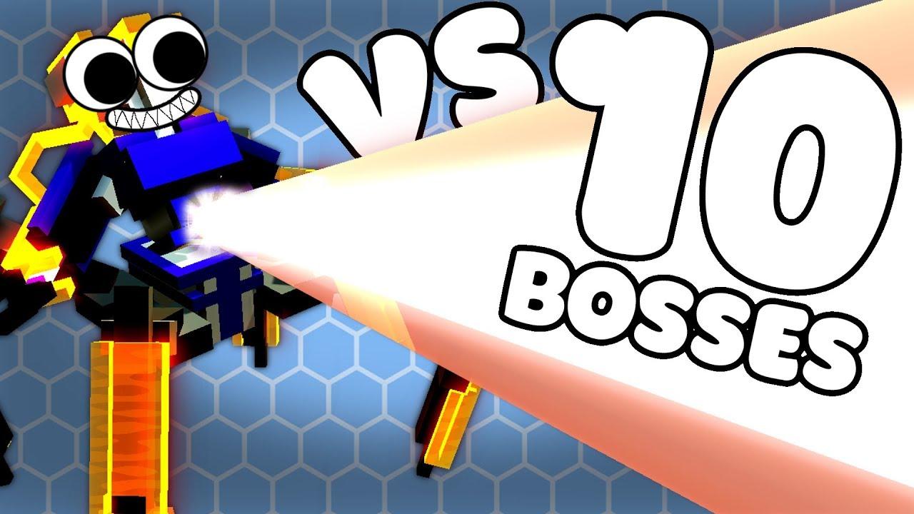 ARMOR VS 10 LASER BOTS - Clone Drone Steam Workshop Gameplay