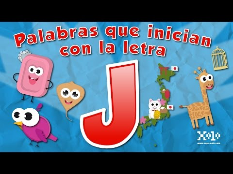 Words that start with the letter J in Spanish for children - Learn Videos