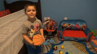 Amazing 4 year old kid play basketball trick shot | learn sports and colors for children and toddler