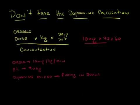 Don't fear the dopamine drip calculation - YouTube