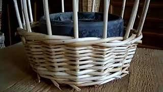 Уникальное видео плетения стенки корзины
