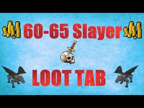 Road to 99 Slayer : 60- 65 Slayer Loot Tab Old school Runescape 2007 ( OSRS )