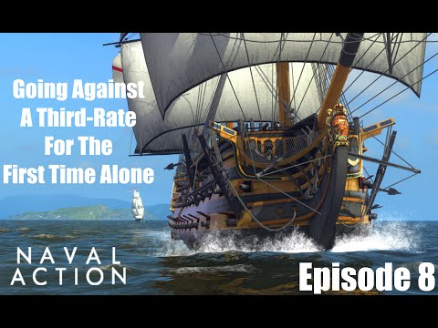 Naval Action : Going Against a 3rd Rate For The First Time Alone [Gameplay]