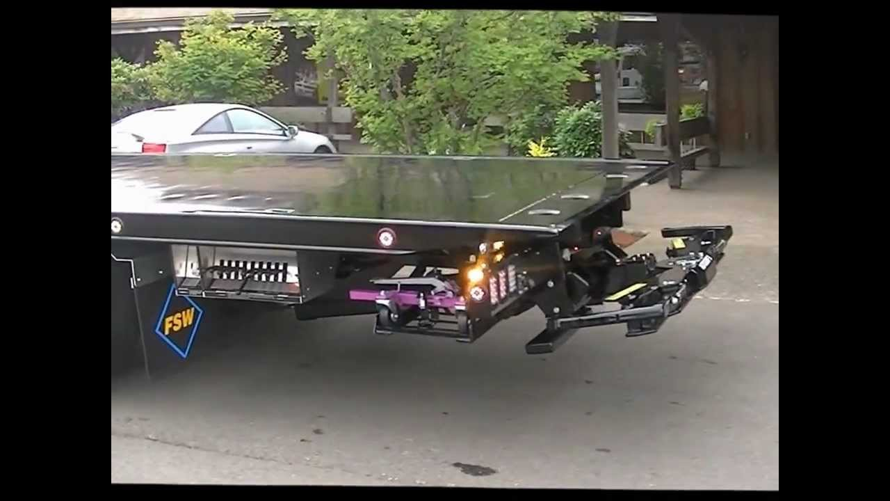 Flatbed Tow Truck >> Fleet Sales West Truck with Side Puller Full Demo - YouTube