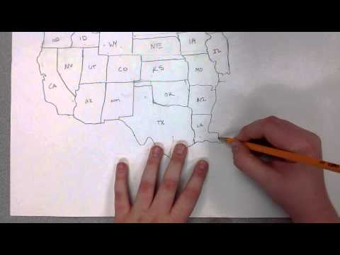 Map of the United States Time Lapse by Ethan