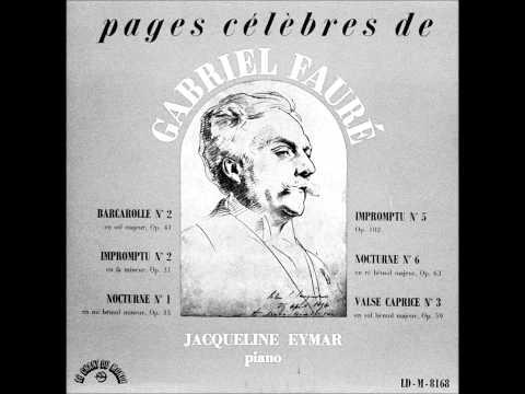JACQUELINE EYMAR plays FAURE (1958)