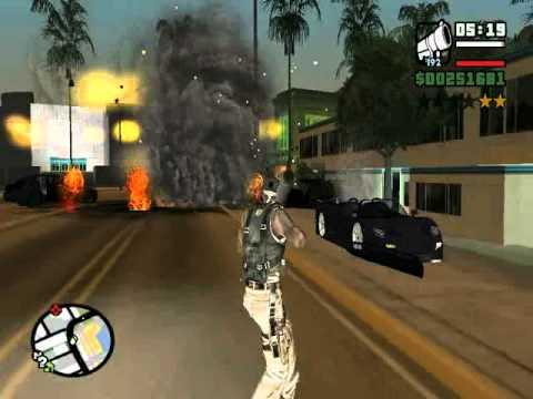 GAMEPLAY GTA SAN ANDREAS 50 CENT FERRARI F50 - YouTube