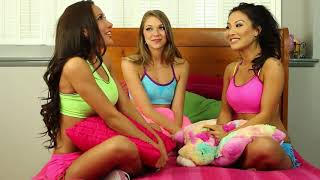 What Guys THINK Girls Do at Sleepovers - Amia Miley, Asa Akira, and Jessie Andrews