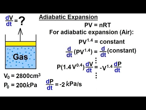 Calculus 1 - Derivatives and Related Rates (18 of 24) Adiabatic Expansion dV/dv=?