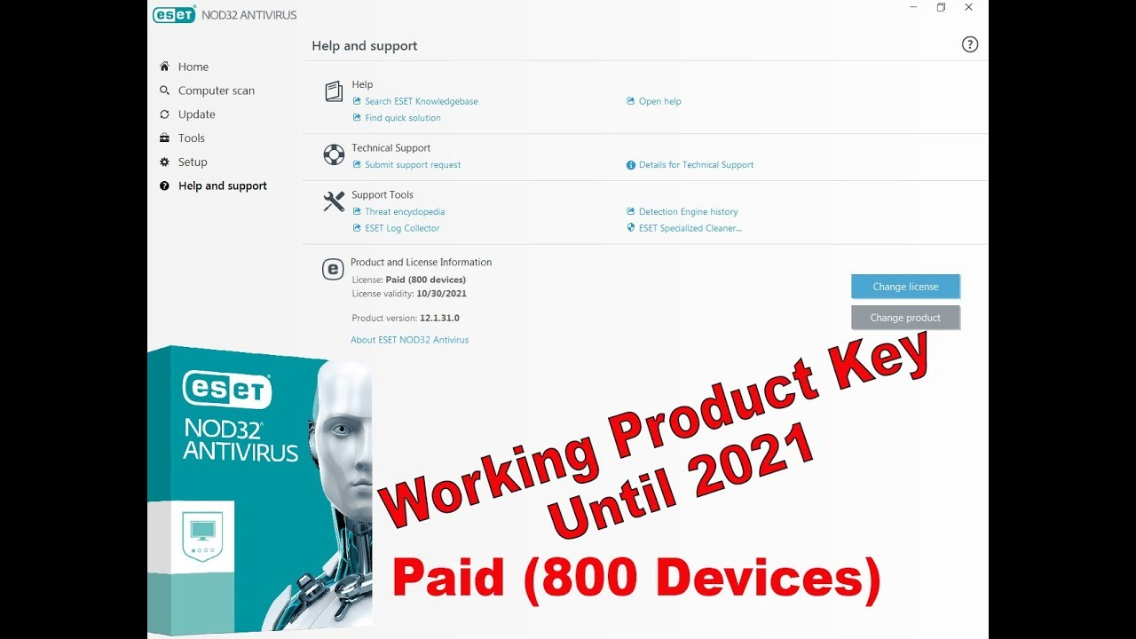 Latest Eset Nod32 Antivirus Product Key 2019, 2020 worked ...