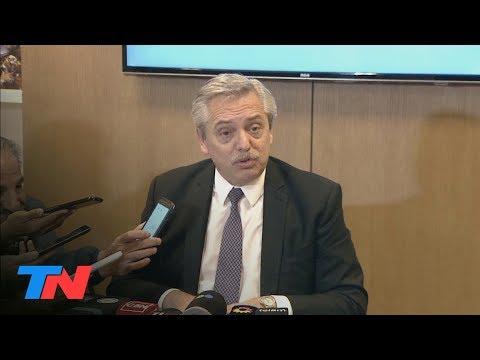 Alberto Fernández habló