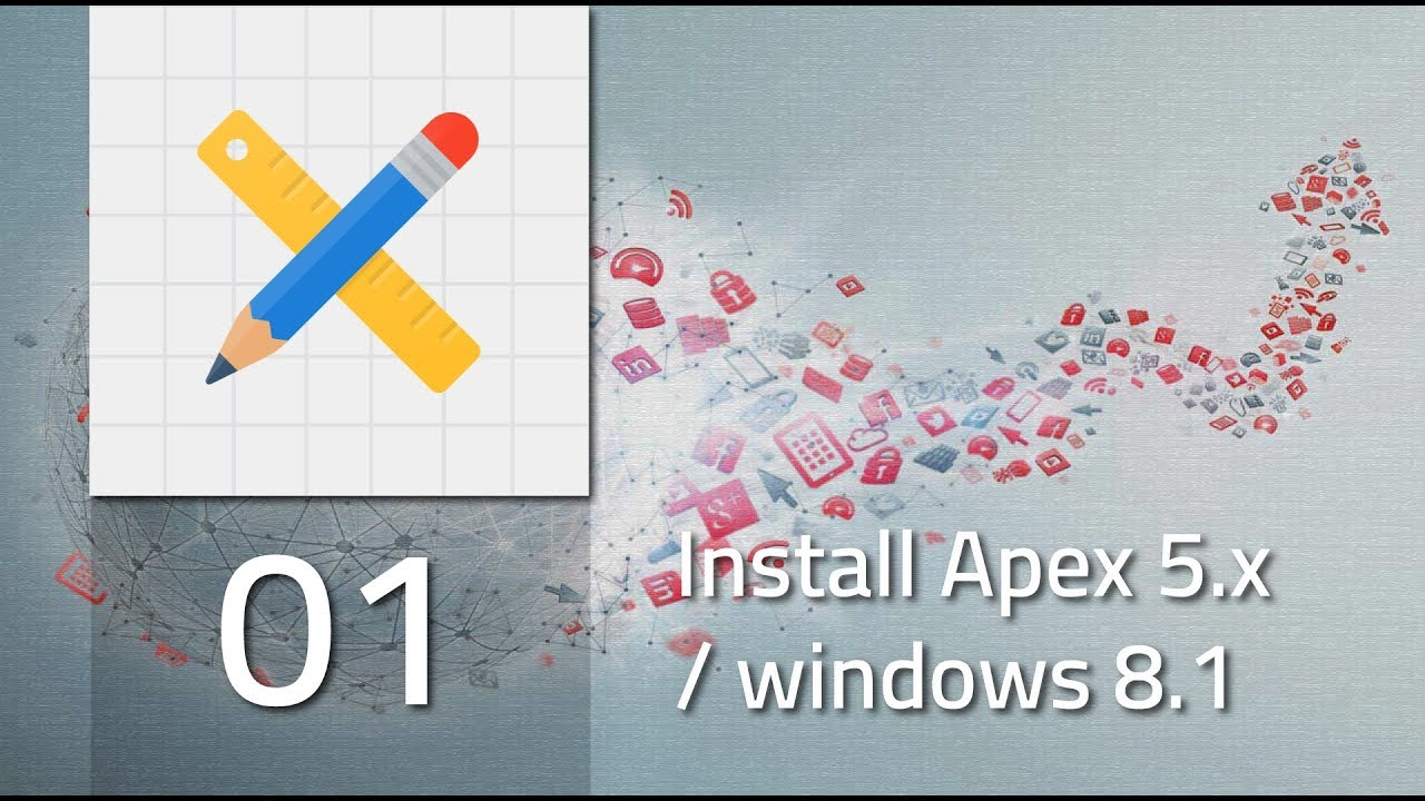 001 Install Oracle Apex x on windows 8 1 & D B 12C [ARABIC]