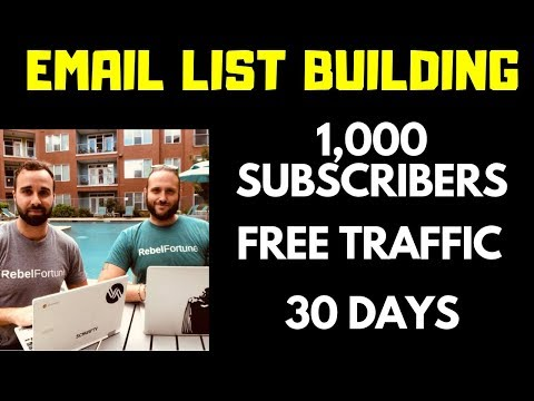 Build Your Email List With Free Traffic (in 10 Mins A Day)