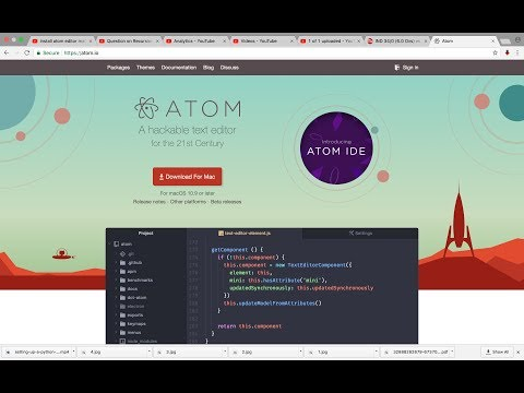 How to run Python 3 script in Atom Editor
