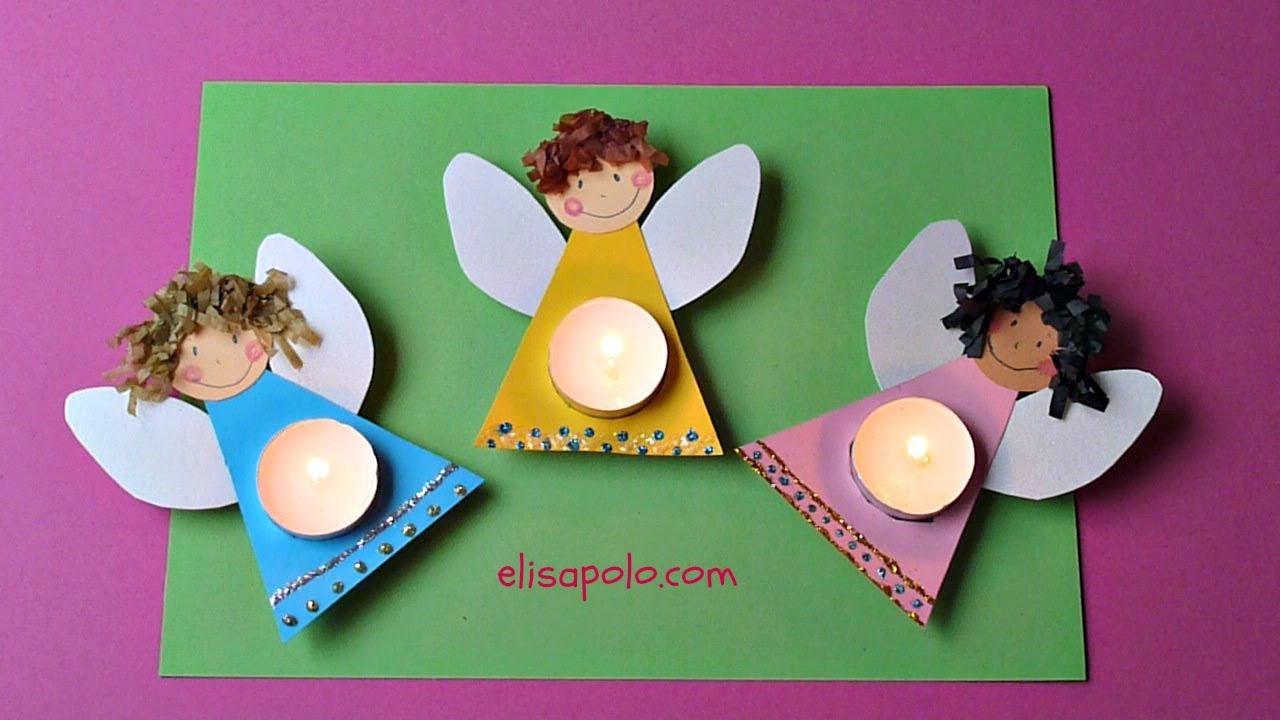 diy cmo hacer un ngel manualidades para navidad christmas angelchristmas angel candle youtube