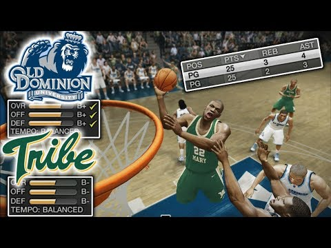 NCAA Basketball 10 | William & Mary Tribe #14 | Playing a 16-2 Team