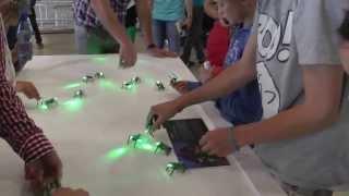 Workshop Build your own mini robot / momics / invasion army ! TU experience  Publieksdag 2013 TU/e