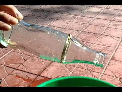 Como cortar una botella de vidrio con un hilo y alcohol - Como cortar botellas de vidrio ...