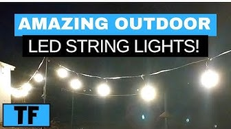 LED String Lights Review | Dimmable Outdoor Patio Lighting For Your Wedding Or Party  | MPOW