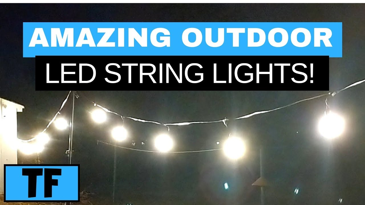 led string lights review dimmable outdoor patio lighting for your wedding or party mpow