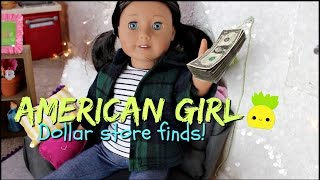 1$ Dollar Finds for American Girl Dolls!!  Furniture, Doll Food + MORE!