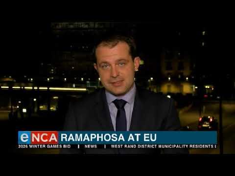 Ramaphosa addresses EU