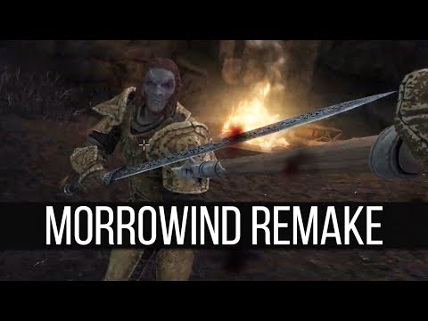 Some Actual Gameplay Of The Morrowind Remaster