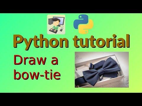 Python tutorial: Draw a bow-tie thumbnail