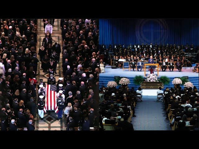 Opinion: As public funerals go, Aretha's won last week, though John McCain's got way more airtime, even on Canadian news networks. Don't the fine minds at CBC and CTV know we're a separate country?