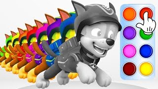 Learn Colors with Police Dog Running  Learning Flashy Color Animation for Baby Toddlers, Kids Part 4