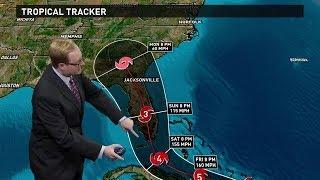 Hurricane Irma Forecast track for 11 pm Thursday, 9/7/17