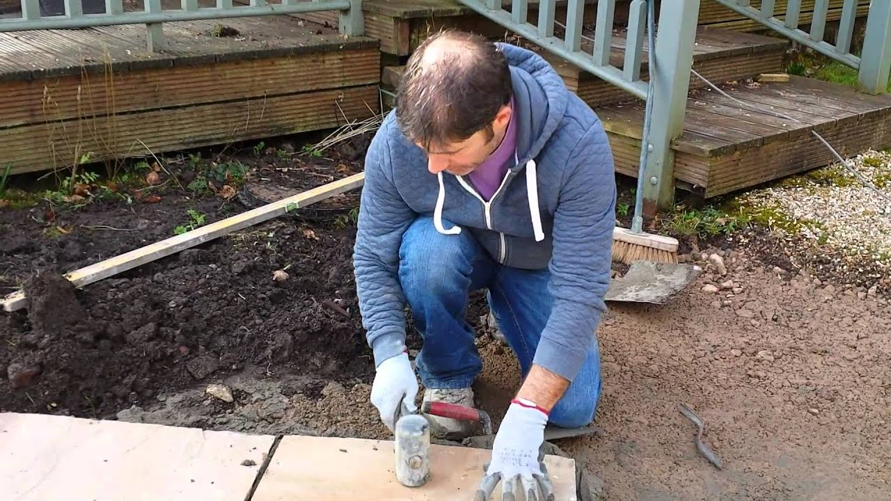 Laying Indian Sandstone Patio And Pointing
