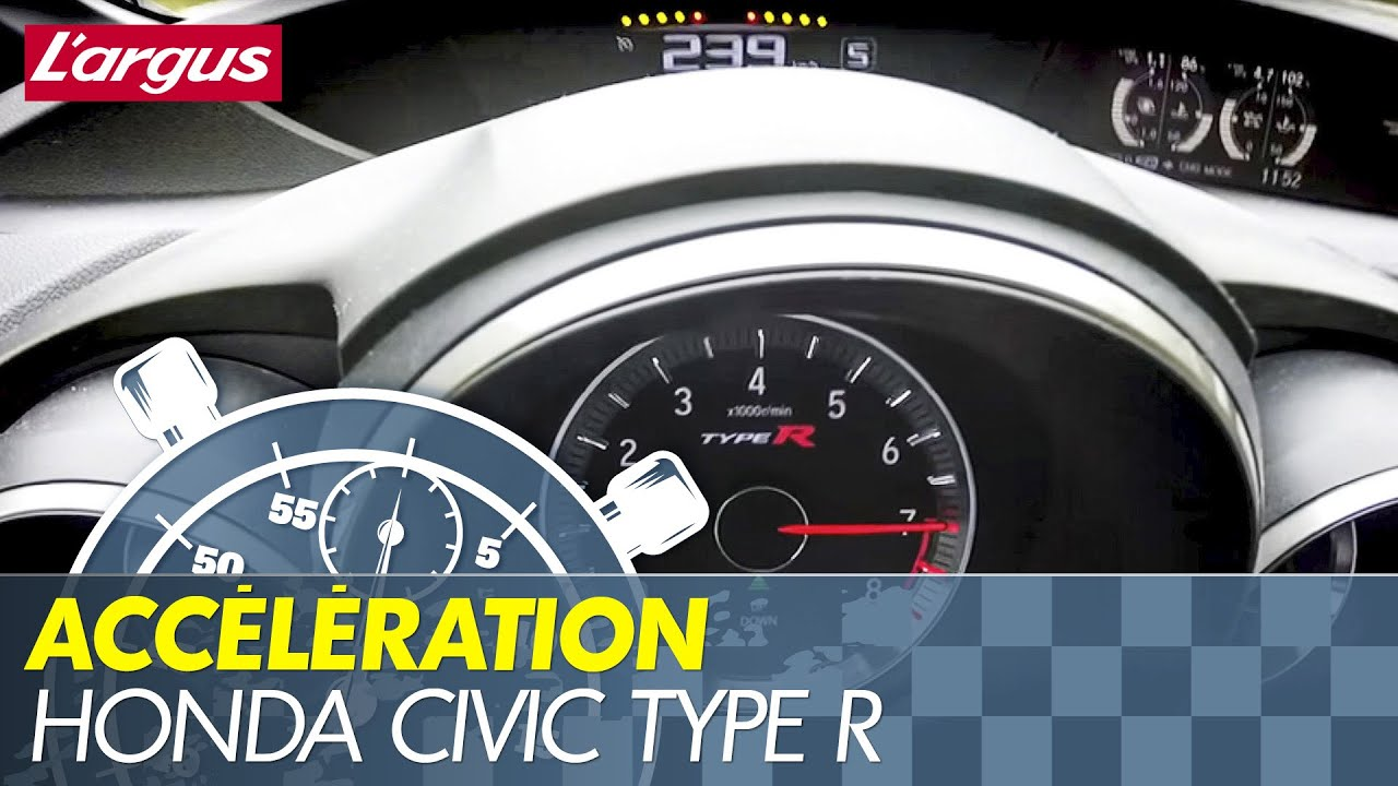 0 290 km h new honda civic type r 2015 acceleration for Honda civic type r top speed