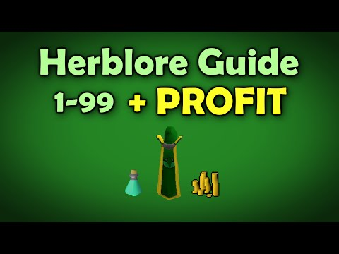 Runescape 2007 | 1-99 Herblore Guide with Profit [Money Making Method]