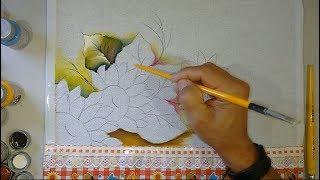 Novo Projeto – Desenho mão livre, fundo e folhas – Parte 1
