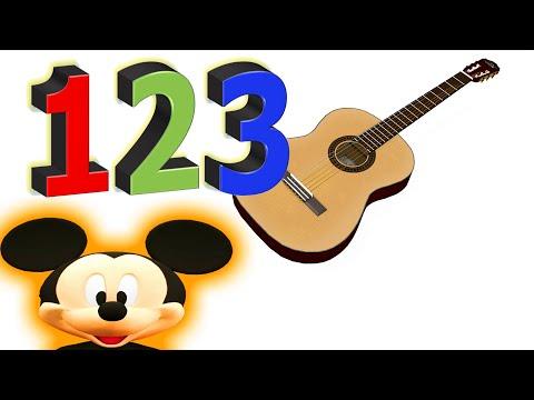 Nummer Lära Sig Barn Gitarr Videoklipp Mickey Mouse Musikalisk