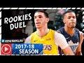 Lonzo Ball vs Dennis Smith Jr. ROOKIES Duel Highlights (2018.01.13) Lakers vs Mavericks - SICK!