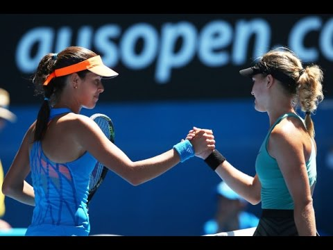 Eugenie Bouchard VS Ana Ivanovic Highlight 2014 AO QF