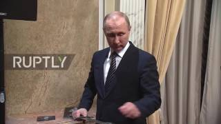 Russia: Putin watches screening of film dubbed Russian
