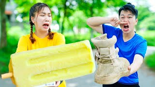 Battle Nerf War Couple SOLDIER competition for ice cream NERF & COMPETITION Nerf Guns Fight friends