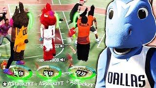 99 OVERALL MASCOT DRIBBLE GOD BREAKING ANKLES AT PARK 🌊 NBA 2K19