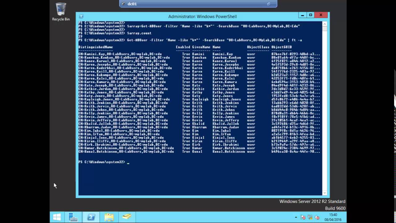 How to add and remove users in an Active Directory security group