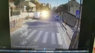 תיעוד התאונה ברחוב חבד בביתר עילית
