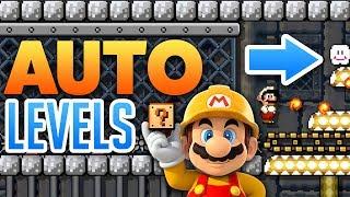 Super Mario Maker - AWESOME AUTO LEVELS! - Level Showcase