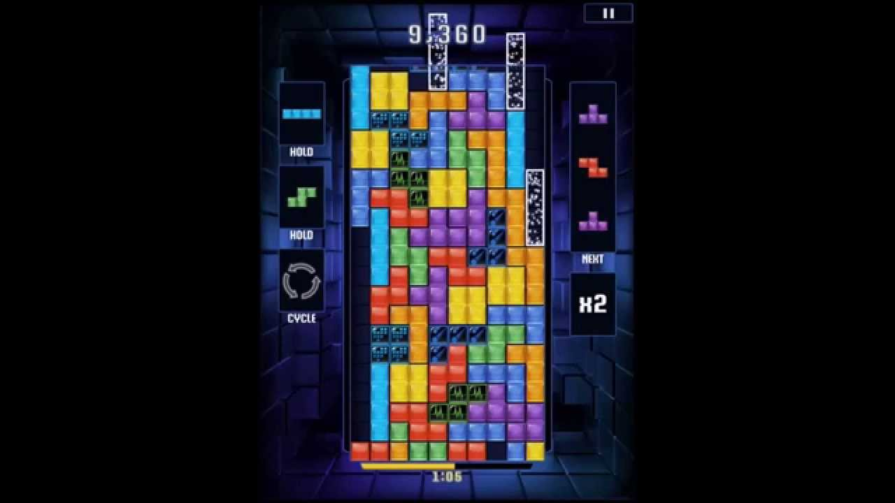 Tetris Blitz - 1,000,000 points hard Cascade