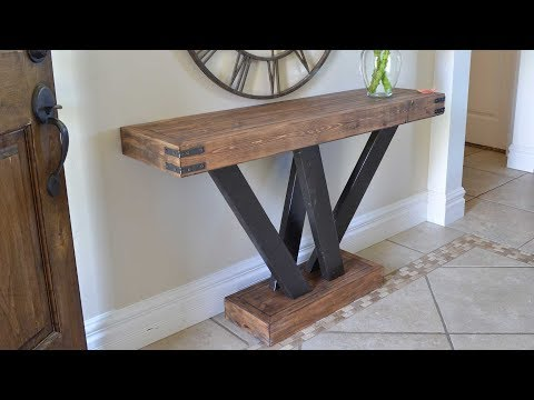 Rustic 2x4 Console Table Build #2x4andMore